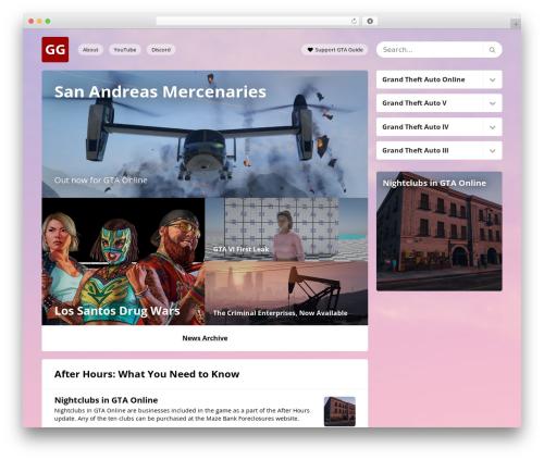 GTA Guide WordPress theme - gtaguide.net