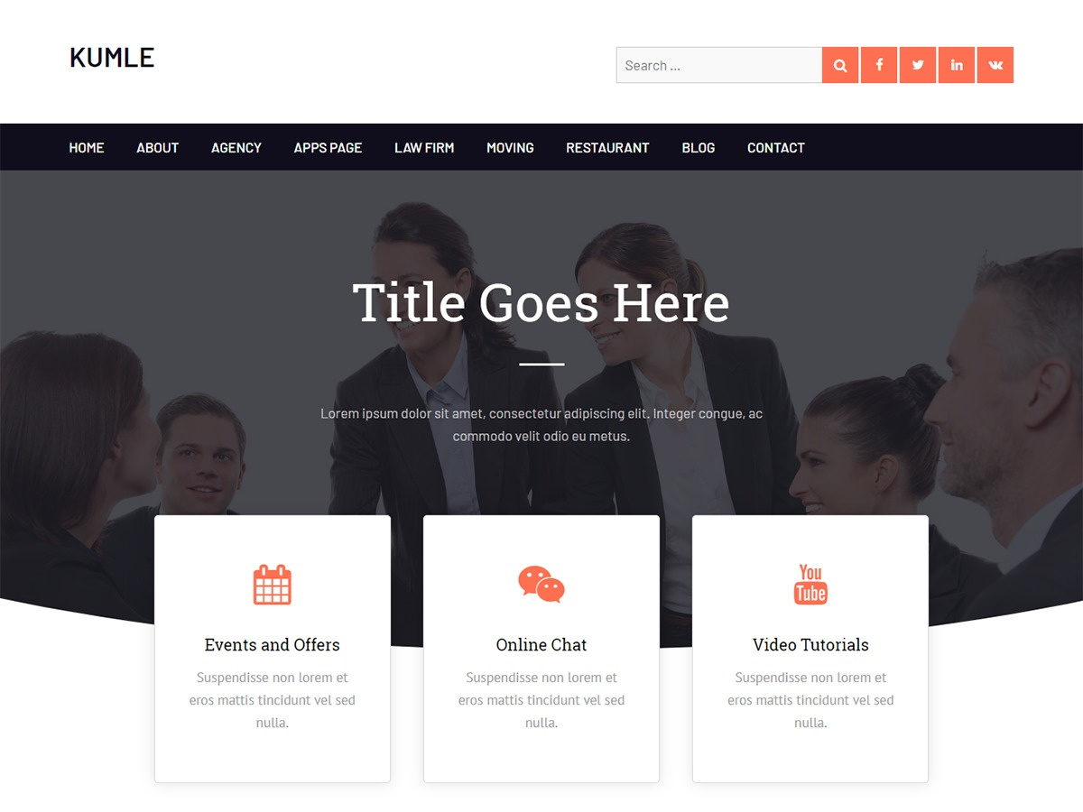Kumle WordPress theme