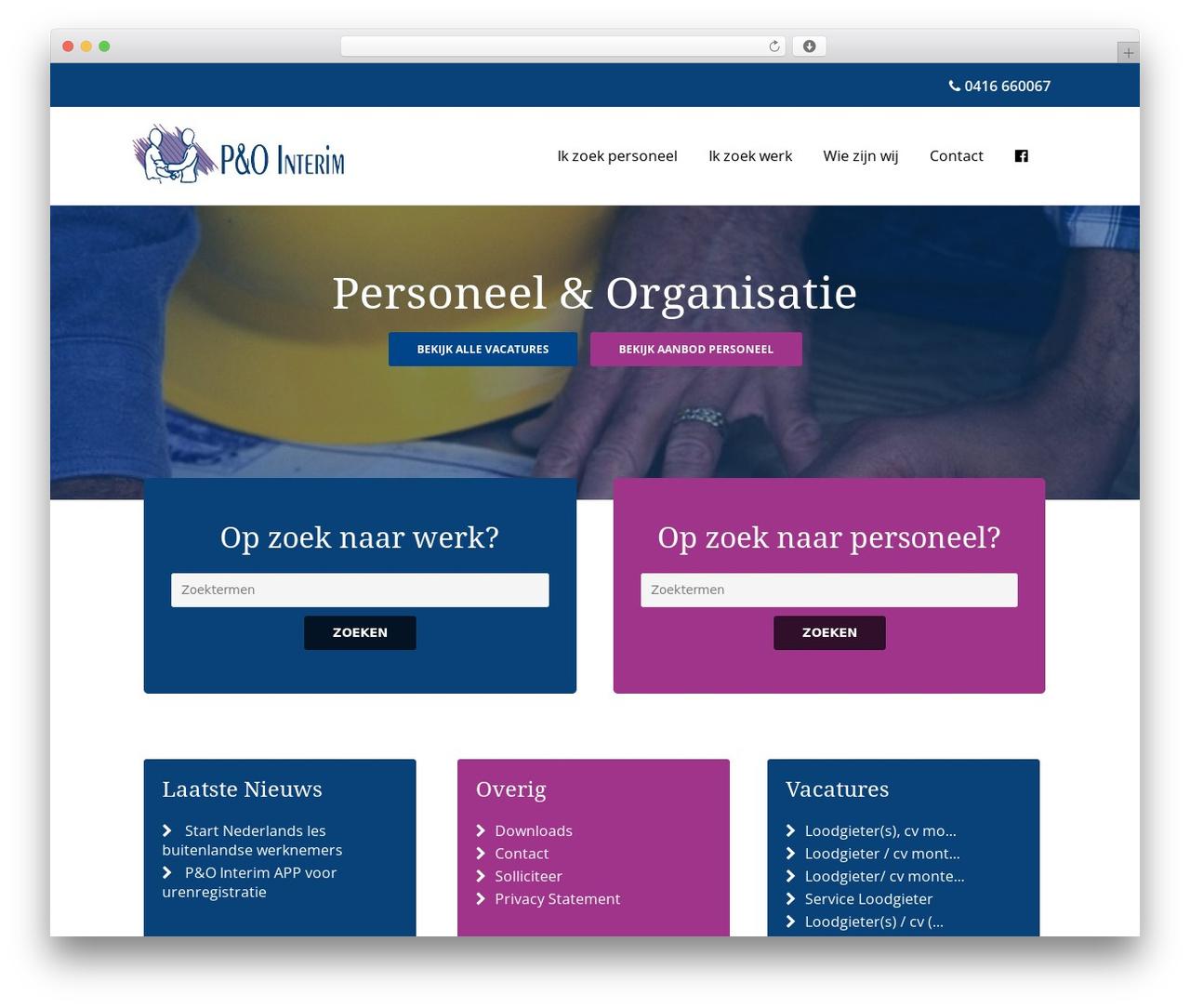 P&O Interim WordPress theme - po-interim.nl
