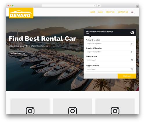 RentIt best WordPress template - rentacarmontenegro.me