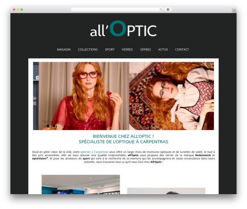WordPress theme Auxane Opticiens - alloptic.fr