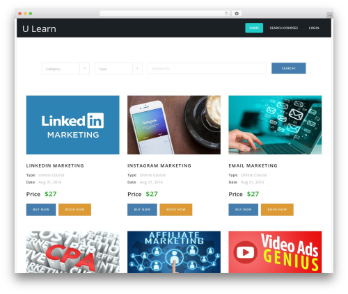 Best WordPress theme Course Theme - ulearn.college