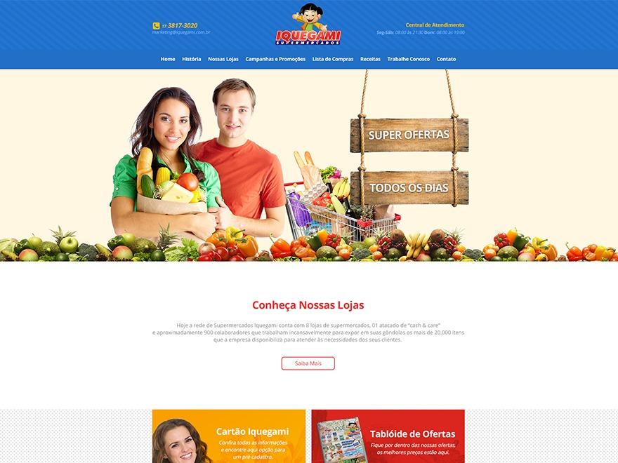 742b9c7eb Best WordPress theme Iquegami Supermercados by Williarts