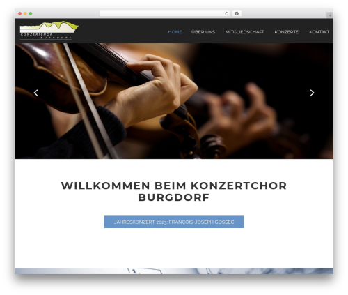 Cherry Framework WordPress template - konzertchor-burgdorf.ch
