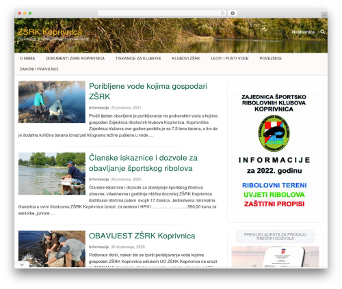 Hana WordPress website template - zsrk-koprivnica.hr