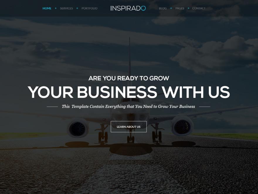 Inspirado WordPress website template