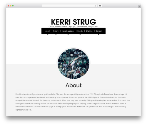 Organic Profile fitness WordPress theme - kerristrug.info