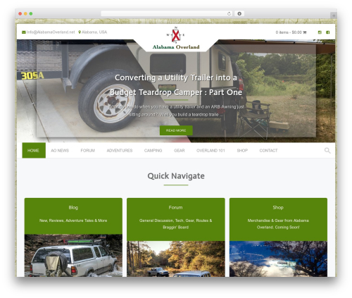 PremierPro WordPress website template - alabamaoverland.net