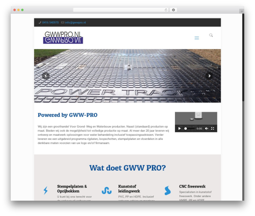 WordPress template Betheme - gwwpro.nl