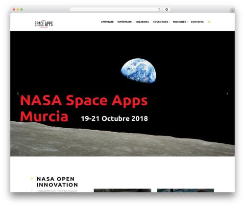 WordPress theme Eventiz - spaceappsmurcia.es