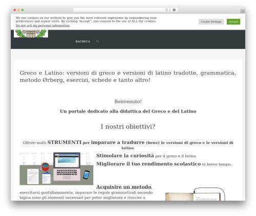 WordPress website template WPLMS - grecoelatino.it
