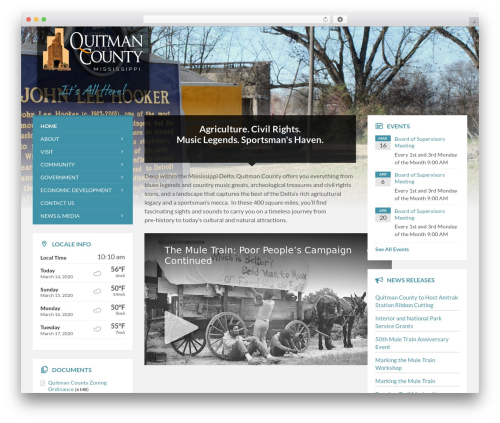WP theme TownPress - quitmancountyms.org