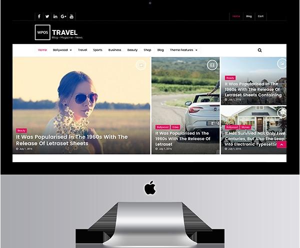 WPOS Blog/News/Magazine-Travel WordPress blog template