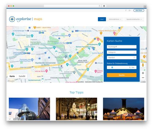BusinessFinder+ company WordPress theme - explorise.de