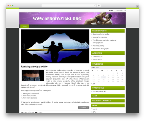 iEducation WordPress theme - afrodyzjaki.org