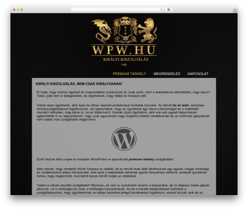 Responsive theme WordPress free - wpw.hu