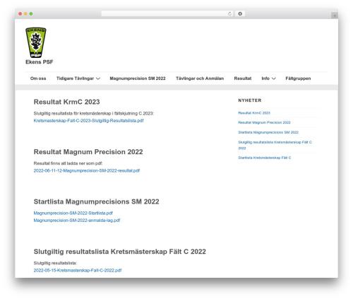 Responsive theme WordPress free - ekenspsf.se