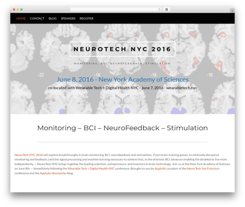 Conference Child Theme template WordPress - neurotech.nyc