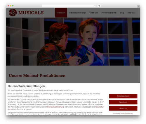 Encore WordPress theme - jgmusicals.de