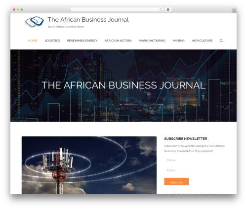 Pet Business newspaper WordPress theme - tabj.co.za