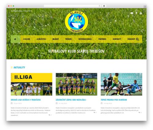 Real Soccer best WordPress theme - slavojtrebisov.sk