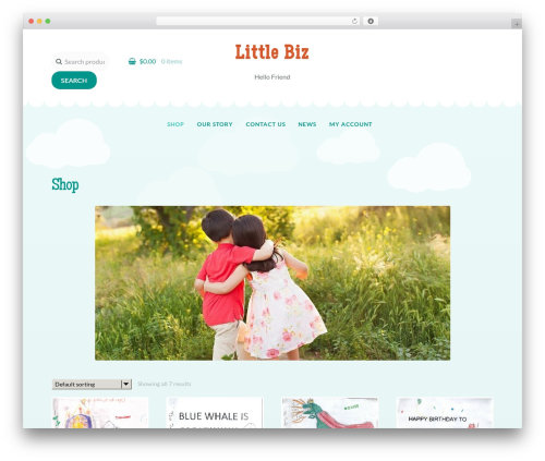 Storefront theme WordPress - littlebiz.net