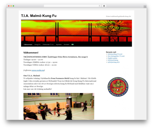 Twenty Ten WordPress page template - malmokungfu.se