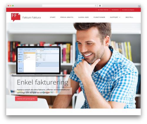WordPress theme Fusion - faktumfaktura.se