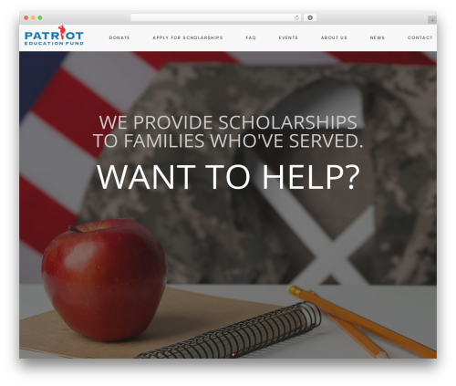WordPress website template Helping Hand - patrioteducationfund.org
