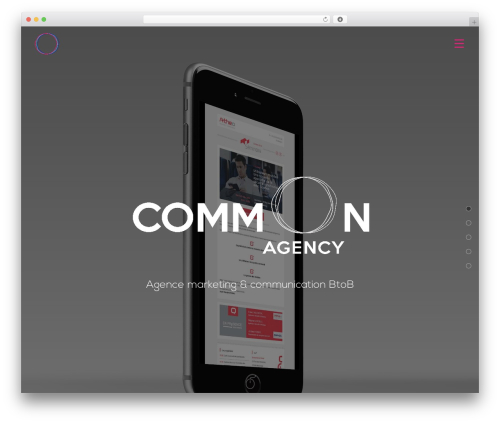 WP template Themify Fullpane - comm-on.agency