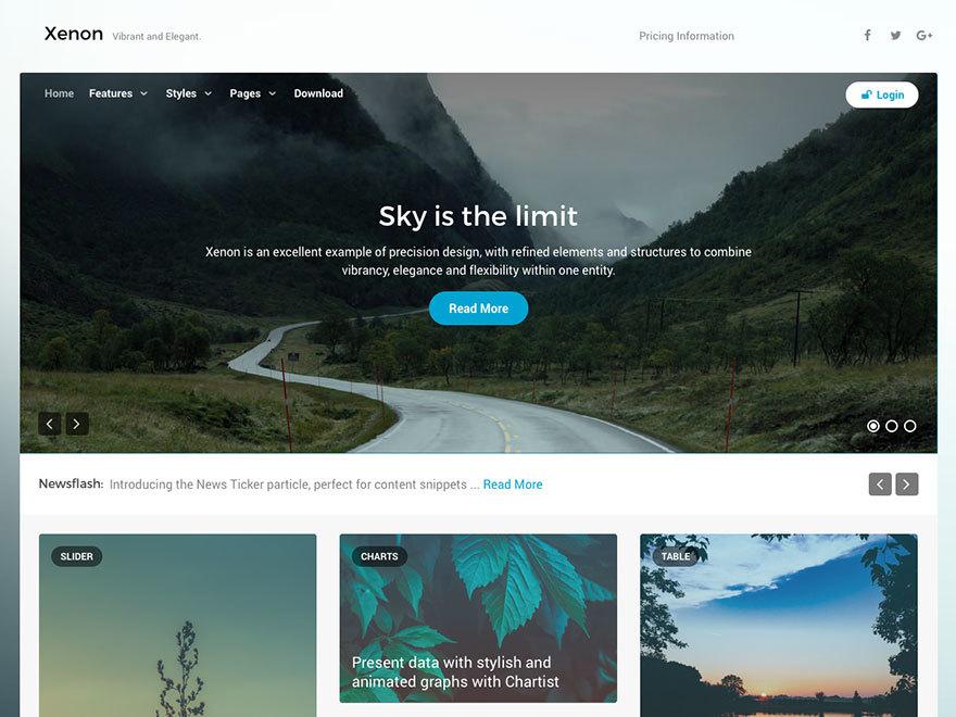 Xenon WordPress theme