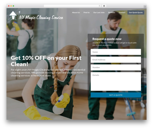 Best WordPress template Getleads - nymagic.cleaning