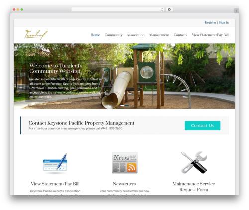 Best WordPress template Spacious Pro - turnleafhoa.org