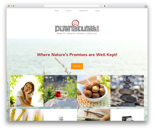 Healthy Farm theme WordPress - purenaturals.life