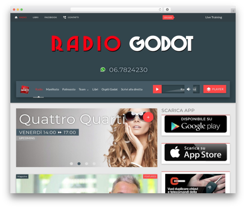 ON AIR! Web Radio Wordpress Theme theme WordPress by qantumthemes ...