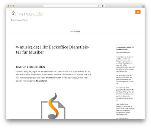 Ponsonby WordPress theme design - v-music.de