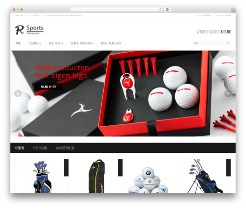 Template WordPress Sportexx - golf-store.nl