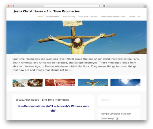 Adventurous free WP theme - jesuschrist.house