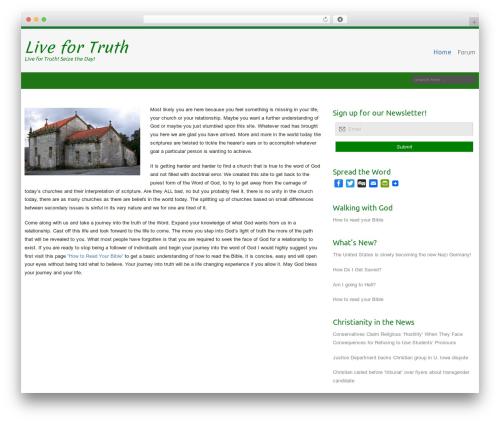 Celestial WordPress website template - livefortruth.org