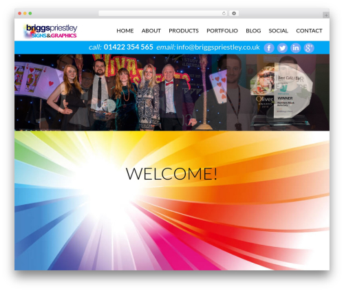 cherry WordPress website template - briggspriestley.co.uk