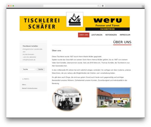 Tesla best free WordPress theme - holzede.de