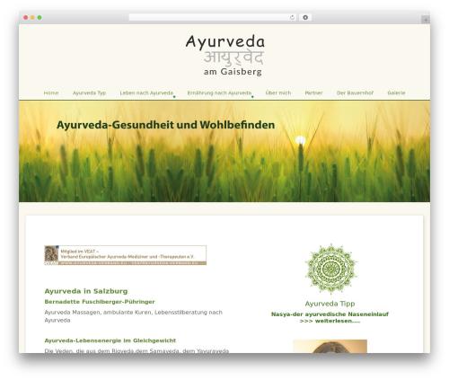 Theme WordPress BlueGray - ayurveda4you.at