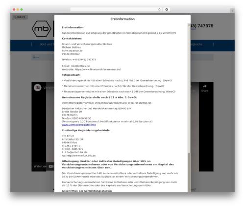 twin T4 WordPress theme design - finanzmakler-weimar.de
