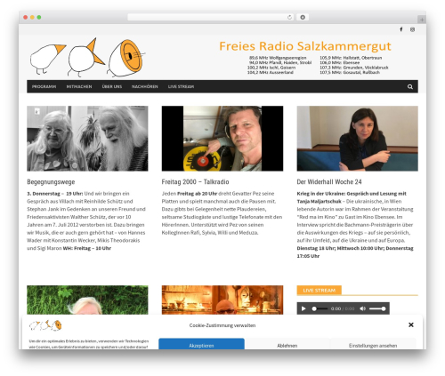 Awaken Pro top WordPress theme - freiesradio.at