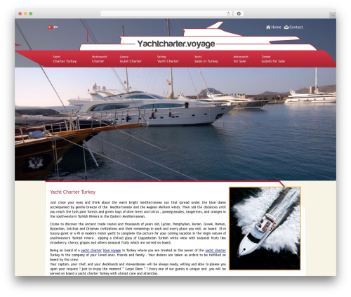 Best WordPress theme Active Trinity - yachtcharter.voyage