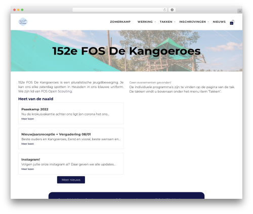 Deep WordPress theme - dekangoeroes.be