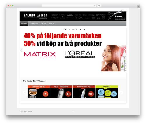 Responsive free website theme - salonglaroy.se