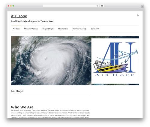 Speedy WordPress theme - airhope.org