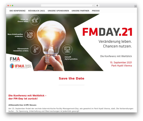 Theme WordPress Conference Child Theme - fm-day.at