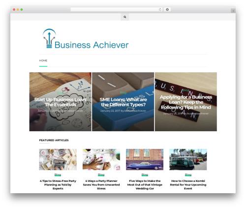 Wonderwall Magazine WordPress news template - businessachiever.net